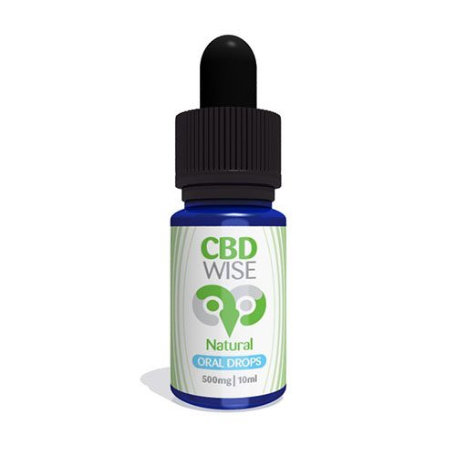 CBD Wise Natural Oral Drops 500mg 10ml